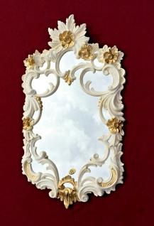 Wandspiegel Weiß-Gold Barock Antik rokoko 60X35 Flurspiegel PrunkSpiegel Relief