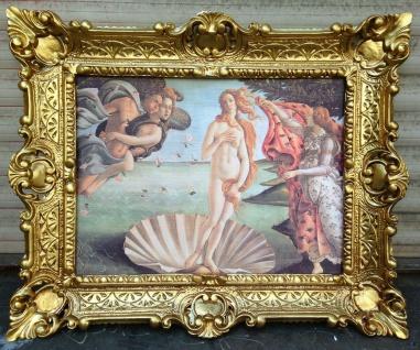 Die Geburt der Venus 56x46 La nascita di Venere Sandro Botticelli Wandbild Kunst