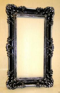 Bilderrahmen Jugendstil Schwarz/Silber 96x57 Spiegelrahmen Antik Gemälderahmen