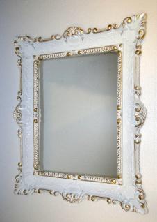 Wandspiegel Weiß-gold vintage, Shabby Chic, Barock, Badspiegel Jugendstil 57x47