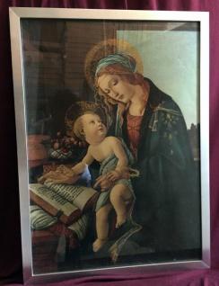 Heilige Maria Mutter mit Kind Bild Kunstdruck mit dem Buch von Sandro Botticelli