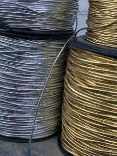 5 Meter Gummiband Gold / 2mm / Gummikordel / Hutgummi / Rundgummi Gummilitze