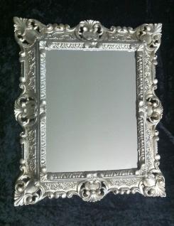 Wandspiegel 44x38 Spiegel BAROCK Rechteckig Antik 3042 Antiksilber 1