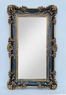 BAROCK xxl Gross Wandspiegel Rechteckig Antik Badspiegel Schwarz-Gold 96x57 1 - Vorschau 3