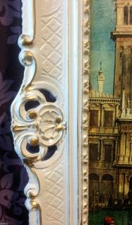 Bild mit Rahmen Weiß-Gold Wandbild NOSTALGIE ITALIEN 90x70 Venedig Bild gondol - Vorschau 5
