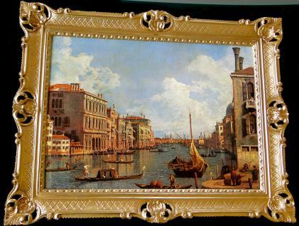 Bilderrahmen Gemälde 90x70 Antik BAROCK Rechteckig Bild Venedig Italien wandbild
