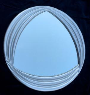 XXL Wandspiegel Silber Rund 95x95 Badspiegel Vintage Antik Retro Mirror Groß
