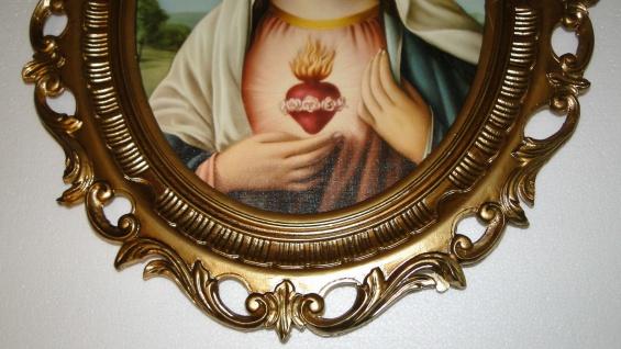 Bild mit Rahmen Heiligenbilder Gemälde Heilige Maria Mutter Gottes 58X68 Madonna - Vorschau 5