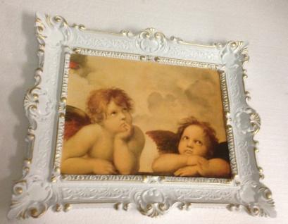 Bild mit Rahmen weiß-gold barock 56x46-30x40 Gemälde Antik Erzengel Raphael - Vorschau 3