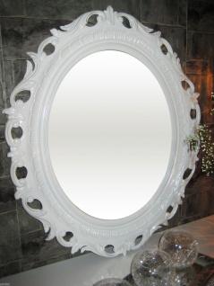 Bilderrahmen Oval Barock Weiss Groß Fotorahmen Antik 58x68 Prunkrahmen mit Glas - Vorschau 5