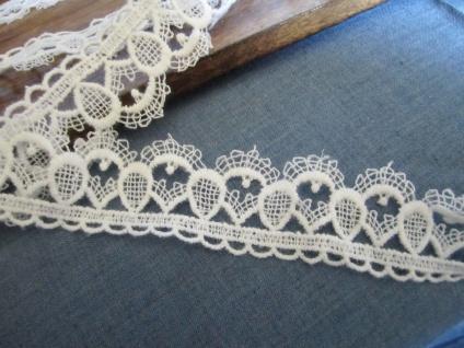 10 Meter Spitze Spitzenband 40mm Weiß guipure Borte Spitzenborte Baumwolle - Vorschau 4