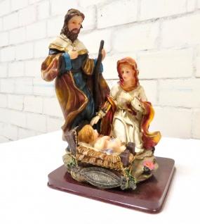 Christliche Heiligenfigur Krippe Heilige Maria 21cm Jesus Christus Madonna Josef