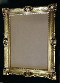 Bilderrahmen groß 90x70 Hochzeitsrahmen Goldener Foto-Gemälderahmen mit Glas