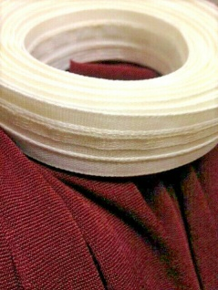 10 Meter Weiß Kräuselband Gardinenband Gardinenzubehör 26mm Faltenband