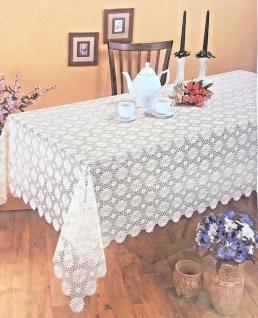 Spitzen Tischdecke häkelspitze Weiß Spitze Polyester 140x220 Bestickt Angebot