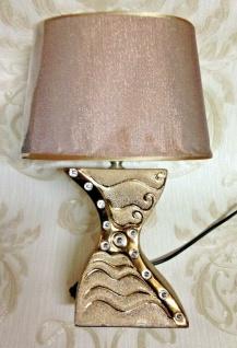 Tischlampe Nachtischlampe H:38cm Schreibtischlampe Keramik Tischleuchter Angebot
