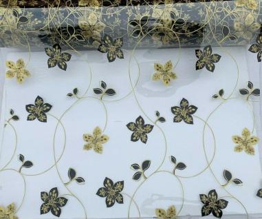 Tischschutz Folie 2mm Meterware Tischdecke Transparent Gold 80-100cm