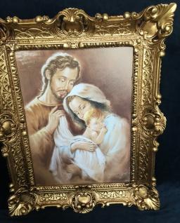 Bild Heilige Bild 57x47 Antik Rahmen Jesus Christus Maria Mutter Gottes Josef - Vorschau 2