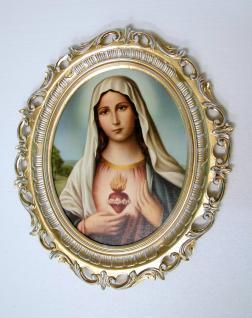 Bild Heilige Maria Mutter Gottes Heiligenbilder Gemälde Madonna 68cm