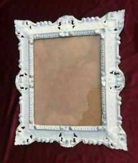 Wandspiegel Weiß Silber 45x38cm Barock Spiegel Badspiegel Hängespiegel Antik