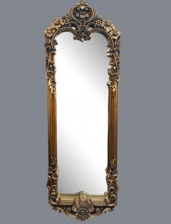 Wandspiegel Barock 161x55 Antik Gold Körperspiegel Rokoko Prunk großer Spiegel