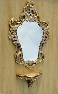 Wandspiegel Gold-Weiß Jugendstil 50x76 Badspiegel Flurspiegel Barock Antik