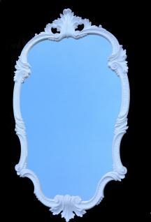 WANDSPIEGEL Weiß Spiegel Barock Oval 98x55 Antik Flurspiegel Friseurspiegel C410