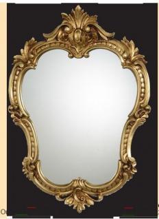 Wandspiegel Antik Oval Gold Retro Spiegel Barock 50X35 Badspiegel c444 Neu
