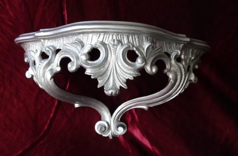 Wandkonsole Silber Vintage Spiegelkonsolen Konsole Barock Wandregal ANTIK 38x20