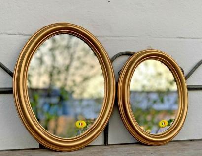 Wandspiegel Barock Gold Oval Badspiegel Spiegel Antik Shabby Vintage 22 - 43 cm