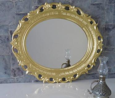 Wandspiegel Oval GOLD leichte Lackunebenheiten 58x68 Wanddeko