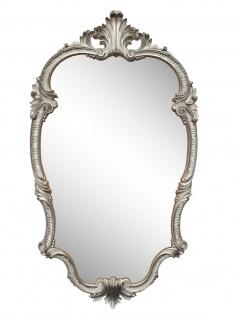 WANDSPIEGEL Antik Silber Oval 99x55 Antik Spiegel Barock Friseurspiegel C410 NEU - Vorschau 1