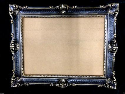 Fotorahmen Bilderrahmen Schwarz Gold Antik 90x70 Barock Gemälderahmen - Vorschau 4