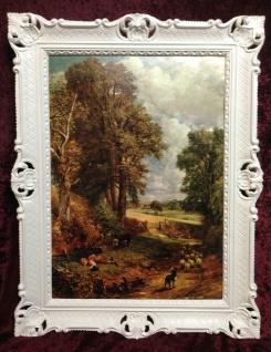Gerahmte Gemälde 90x70 Landschafts Bild DIE SCHÄFER ZIGEUNERKIND Wandbild