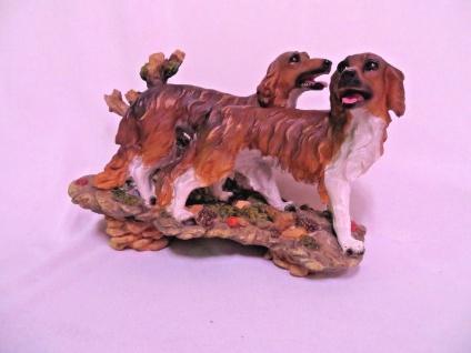 Hunde Figuren Jagdhunde paar Bx37 x T17 x H26 Lebensecht Tierfigur Sonderpreis