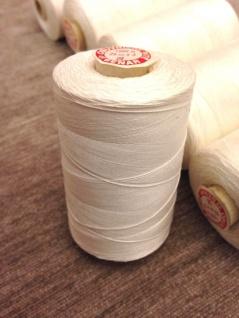 4 x Nähgarn 1000 Meter Polyester/Baumwolle Zelt Nähgarn Weiß 25/3 Reißfest NEU
