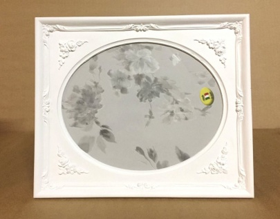 Bilderrahmen oval Weiß Matt 25x21 Barock Fotorahmen Antik Rechteckig C69p