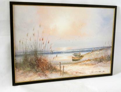 Gemälde Ölbilder Deko Holzrahmen 50x70 Bilder Poster Bilderrahmen Boot 2
