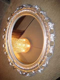 Wandspiegel Spiegel 58 x 68 BAROCK Oval Neu 120 Silber Antik 1Bilderrahmen