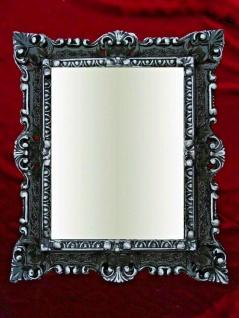 Bilderrahmen Barock Schwarz Silber Antik +Glas 45x38 Rechteckig Fotorahmen Neu
