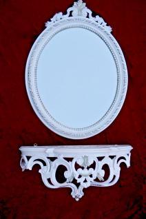 Wandspiegel mit Konsole weiß Silber 64x46 Flurspiegel mit Ablage Telefontisch