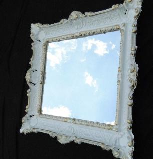 Wandspiegel Spiegel Barock Badspiegel Weiß-Gold Rechteckig 57x47 Antik Mirror - Vorschau 3