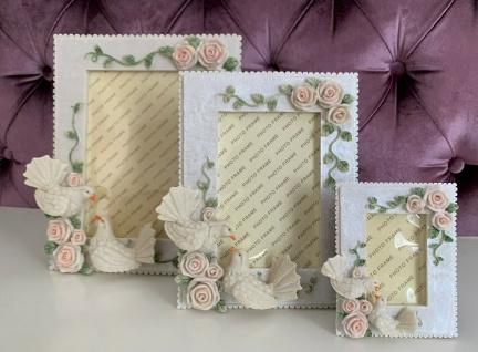 Bilderrahmen Hochzeitsrahmen mit Taube Fotorahmen Dekorativer Bilderrahmen Rosen