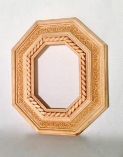 Bilderrahmen Holz Natur 30x26 Barockrahmen Antik 13x18 Gemälderahmen oval eckig