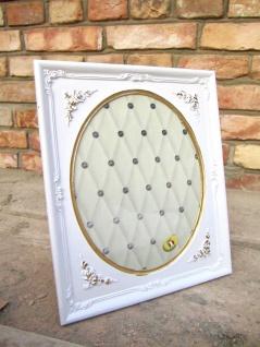 Bilderrahmen Weiß-Gold Oval Rechteckig 25x21 Antik Barockrahmen Fotorahmen