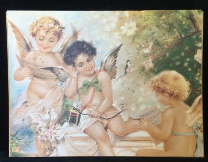 Engelsbild Engel Musik Schutzengel 30x40 Bild auf MDF Platte Heiligebild