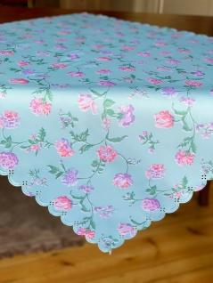 Mitteldecke 80x80 Tischdecke Jacquard Tischtuch Rosen Blumen Bügelfrei Stoff
