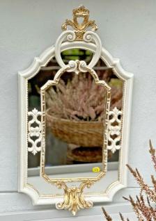 Barock Wandspiegel Elfenbein-Gold Prunk Spiegel Antik Rokoko Badspiegel 59x32 - Vorschau 4