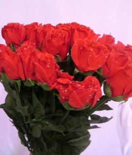 12 x Seidenblumen höhe 69 cm künstliche Rosen Rot Restposten Neu Ware