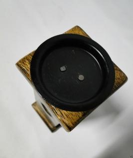 Kerzenhalter Holz Antik 19x7 Kerzenständer aus Mango Holz Kerzenhalter 20731 - Vorschau 2